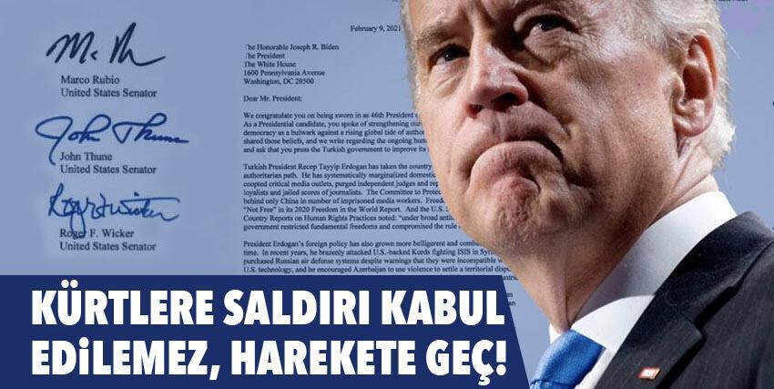 54 Senatör'den Joe Biden'a Kürtler için mektup!