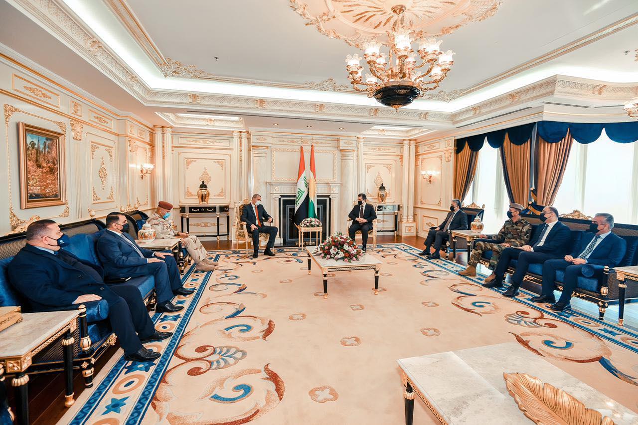 Başbakan Barzani ile Iraklı İçişleri Bakanını kabul etti: Önemli konular masadaydı