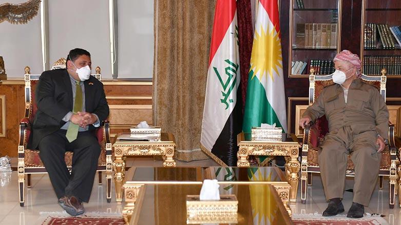 Başkan Barzani, ABD'li yetkili ile bir araya geldi!