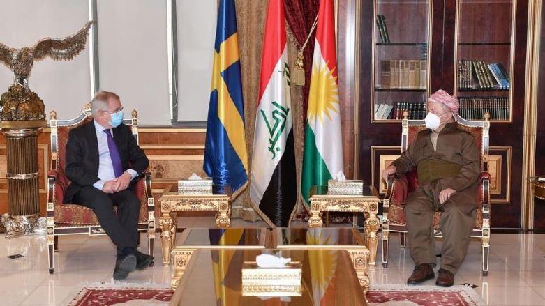 Başkan Barzani, İsveç'in Bağdat Büyükelçisi'ni kabul etti