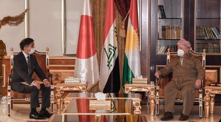 Başkan Barzani Japonya'nın Bağdat Büyükelçisi'ni kabul etti