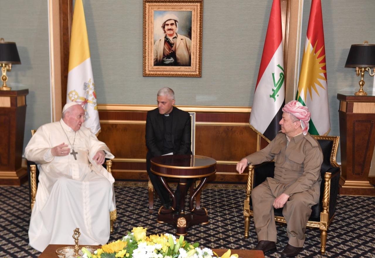 Başkan Barzani: Papa'nın ziyareti bir arada yaşama ve hoşgörünün kanıtıdır!