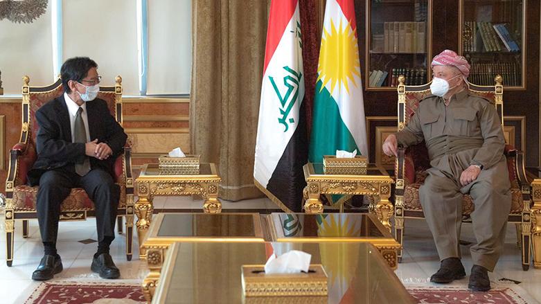 Başkan Barzani, Japonya'nın yeni Erbil Konsolosu Arakawa'yı kabul etti