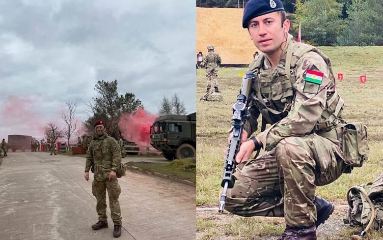 Kürt subay bakalorya derecesi ile İngiltere Askeri Akademisi'nden mezun oldu!