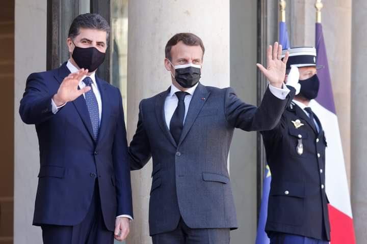 Neçirvan Barzani'den Macron ile yapılan görüşmeye ilişkin ilk açıklama!