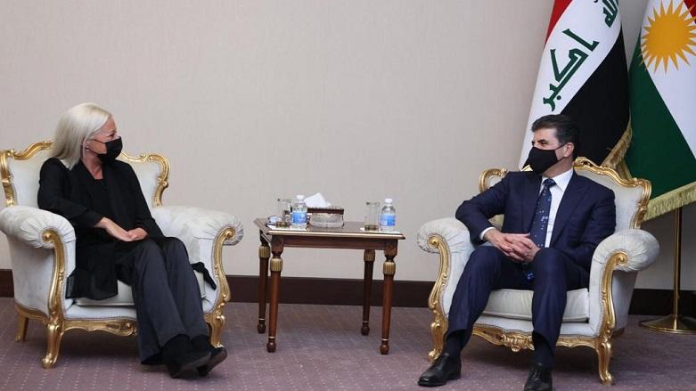Neçirvan Barzani Bağdat'ta, BM Irak Temsilcisi ile bir araya geldi