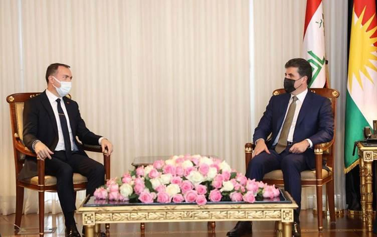 Neçirvan Barzani, Türkiye'nin Bağdat Büyükelçisi'ni kabul etti!
