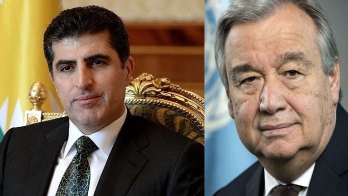 Guterres'ten Neçirvan Barzani'nin çağrısına yanıt!