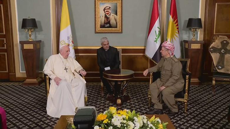 Papa'dan Başkan Barzani'ye: Kürdistan'ı unutmadım!