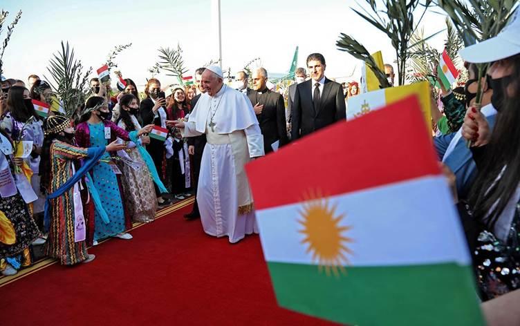 Papa'dan, Peşmerge'nin kurtardığı Qereqoş'ta 'birlik' mesajı!