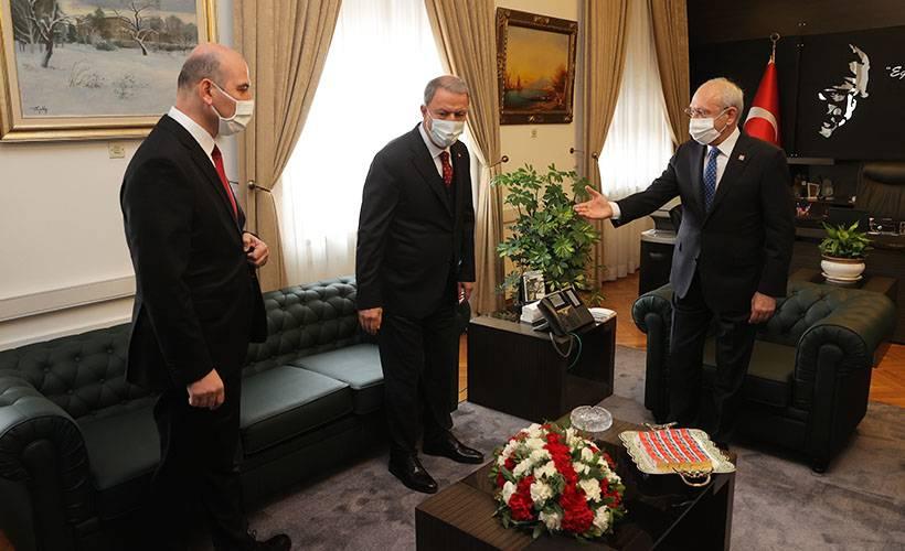 Akar ile Soylu'dan, Kılıçdaroğlu'na sürpriz ziyaret!