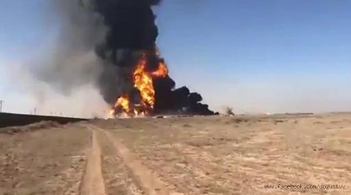 İran sınırında tanker patladı 500'den fazla araç kül oldu!