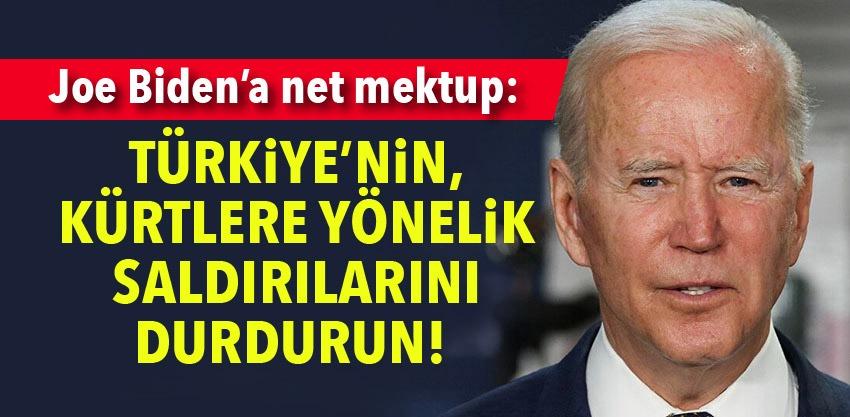 Mesaj net: Bizle beraber omuz omuza savaşan Kürtler için daha fazlası yapılmalı