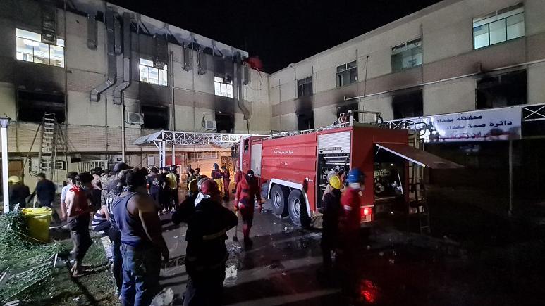 Bağdat | Hastane yangınında ölü sayısı 82'ye yükseldi!