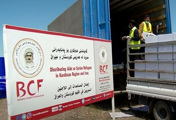 Barzani Yardım Vakfı'ndan Süleymaniye'deki ailelere yardım!