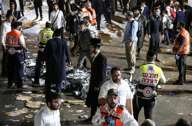 İsrail'de izdiham: En az 44 ölü, yüzlerce yaralı!