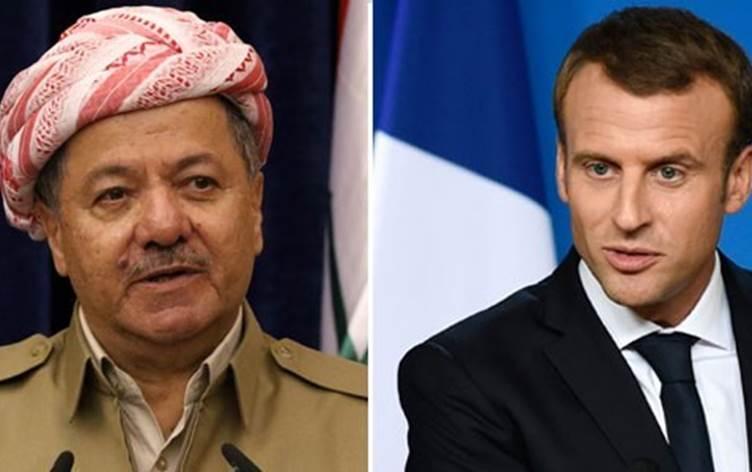 Fransız medyası Macron-Başkan Barzani görüşmesi üzerinden Peşmerge'ye dikkat çekti!