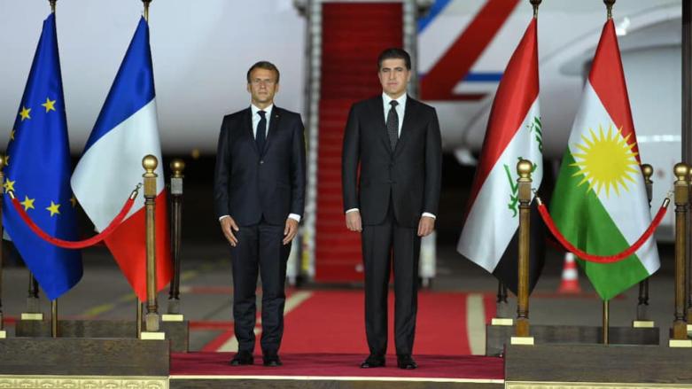 Fransa Cumhurbaşkanı Macron başkent Erbil'de