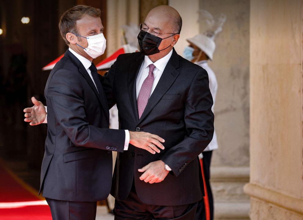 Macron'la görüşen Berhem Salih'ten Irak için destek talebi!