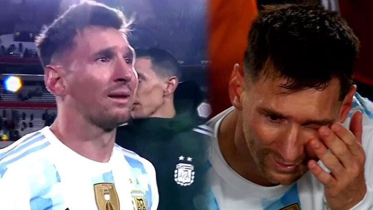 Messi tarih yazdı: Gözyaşlarını tutamadı!