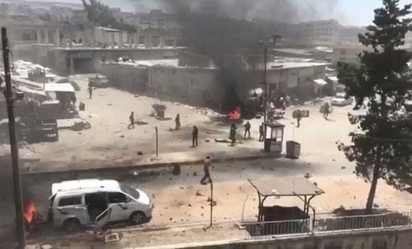 Afrin | Askeri karargaha yakın bölgede şiddetli patlama!