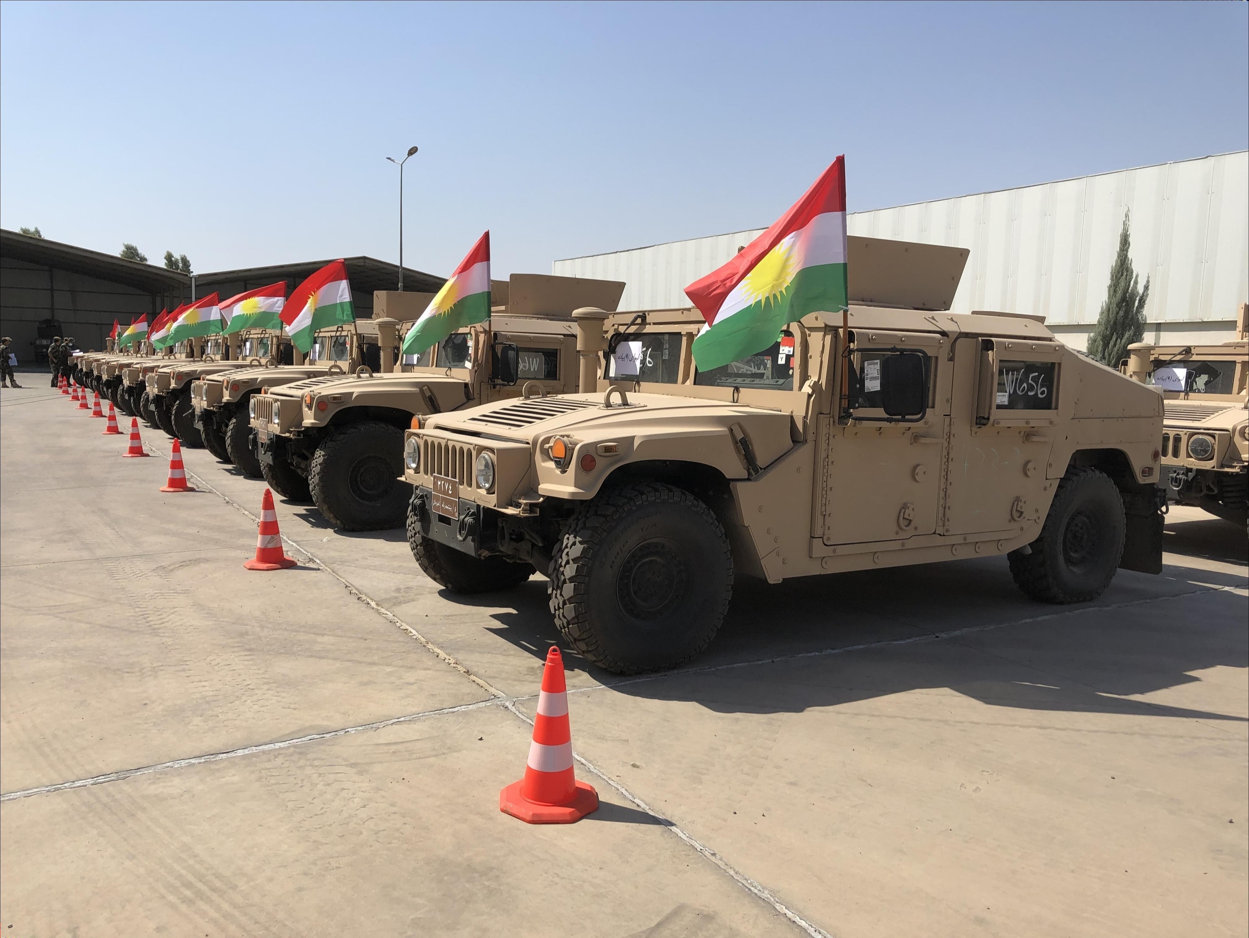 Koalisyon'dan Peşmerge Güçleri'ne askeri yardım: 150 askeri araç!