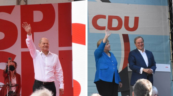 Almanya'daseçim | Geçici resmi sonuçlara göre SPD seçimi kazandı!