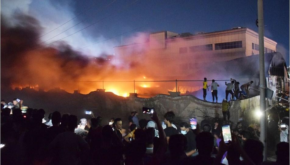Irak | Hastane yangınında ölü sayısı 58'e çıktı: Kazımi'den acil toplantı!