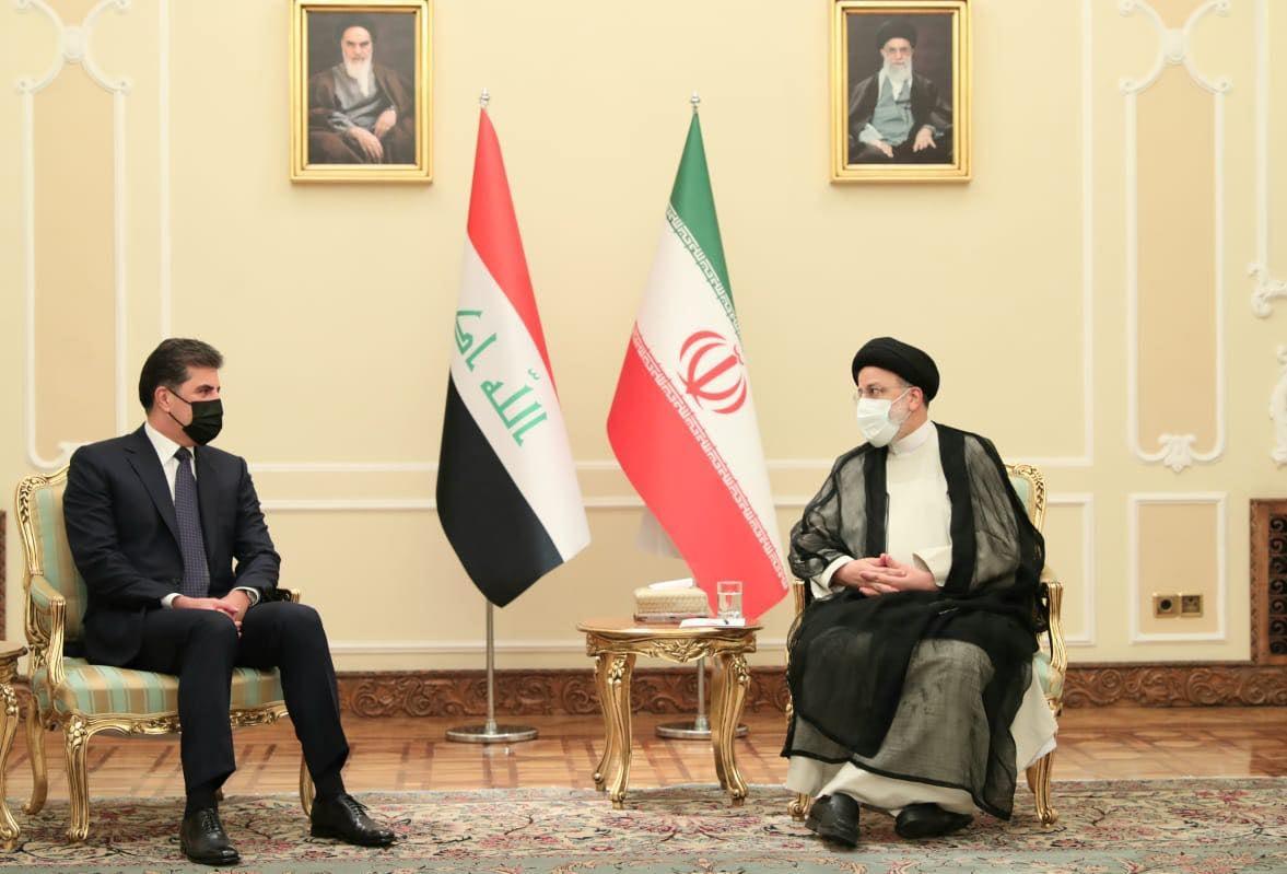 Neçirvan Barzani İran Cumhurbaşkanı Reisi'yle bir araya geldi
