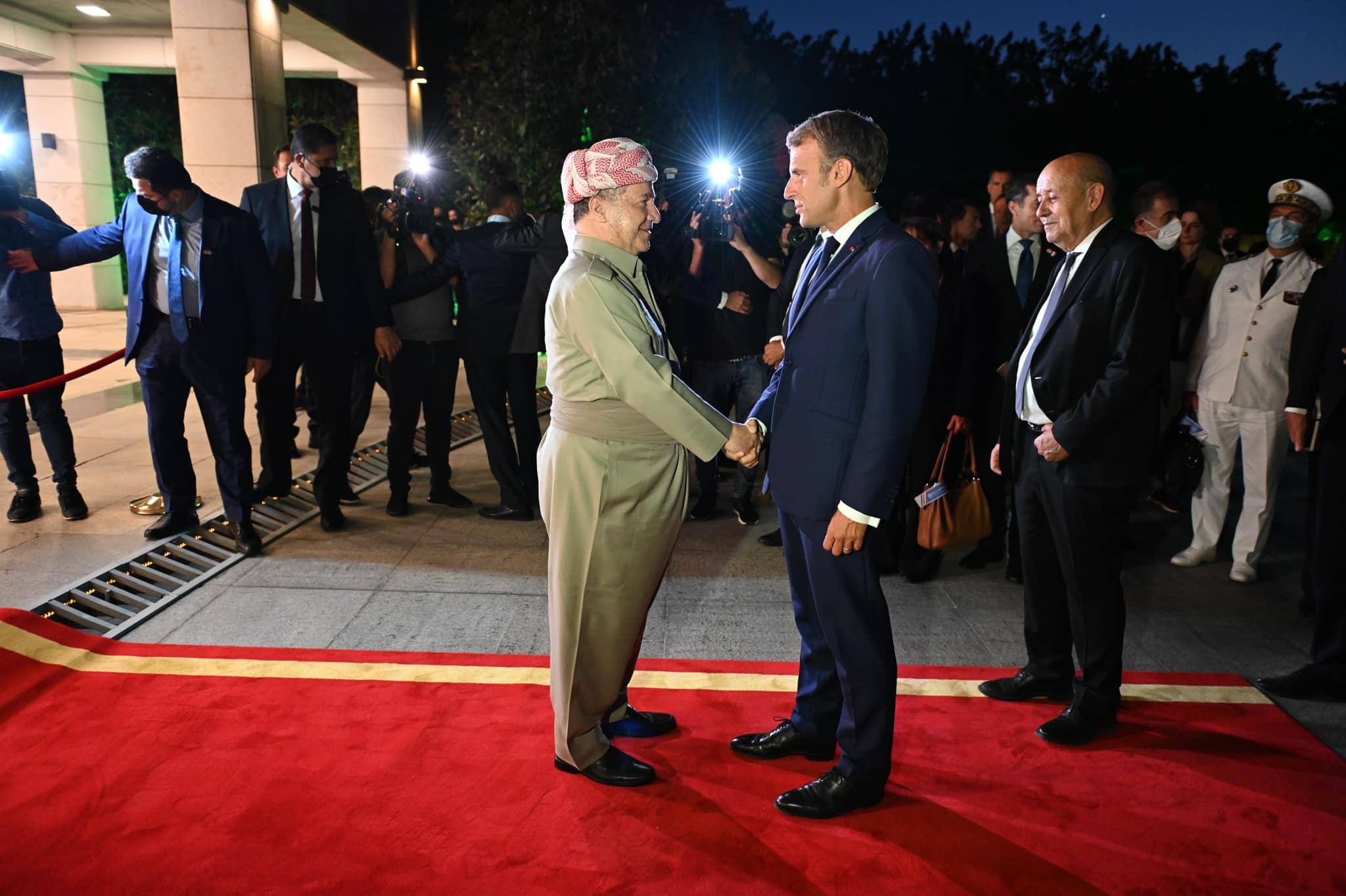 """Başkan Barzani'den Macron mesajı: """"İstikrarlı bir dostluğumuz var"""""""