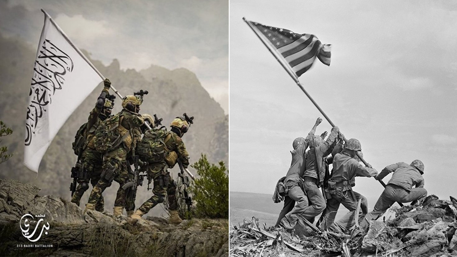 Taliban, ABD askerlerinin 2. Dünya Savaşı'ndaki ikonik resmi ile alay etti!