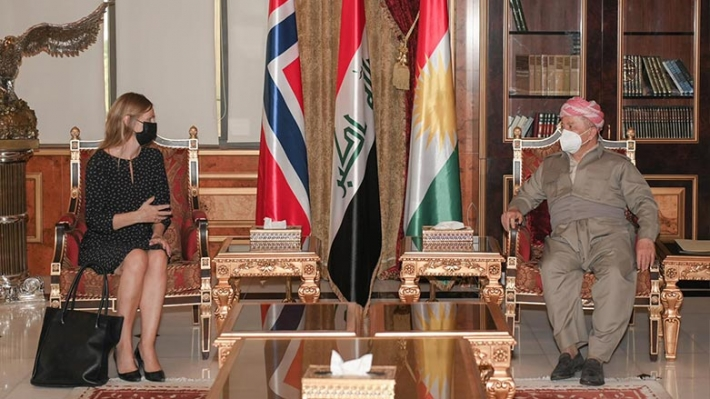 Başkan Barzani Norveç'in Bağdat ve Amman Büyükelçisi ile görüştü!