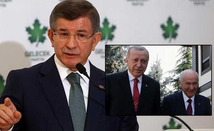 Davutoğlu'ndan Bahçeli'ye 'Biji Serok Erdoğan' göndermesi!