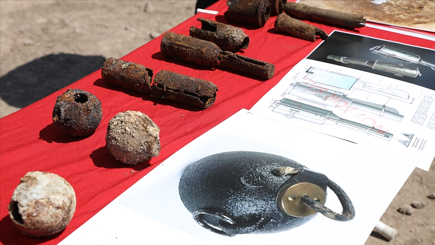 Diyarbakır | Kazı çalışmasında 782 el bombası bulundu!