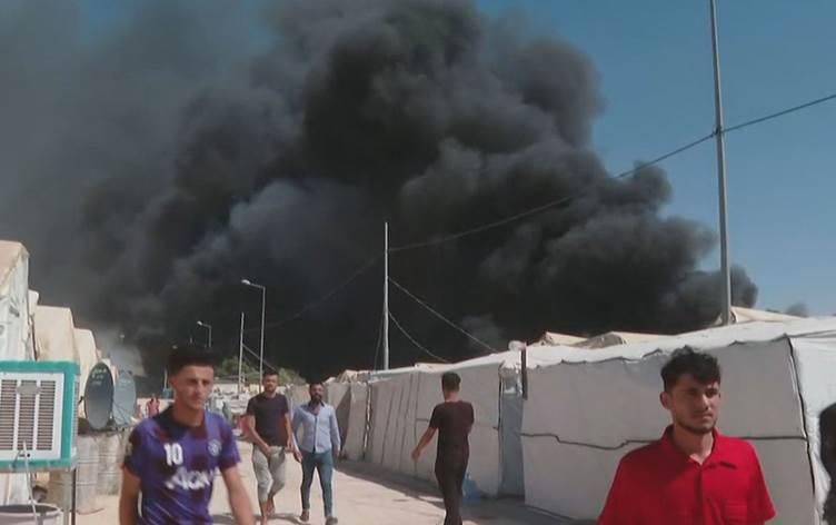 Duhok'taki mülteci kampında yangın!