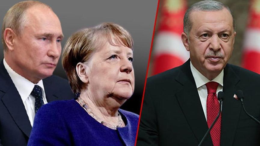 Erdoğan Putin'in ardından Merkel'le de 'aynı konuyu' görüştü!