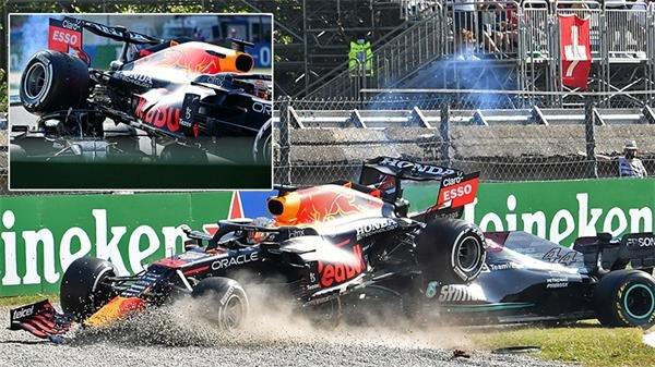Formula 1'de feci kaza: Verstappen, Hamilton'ın üstüne çıktı!