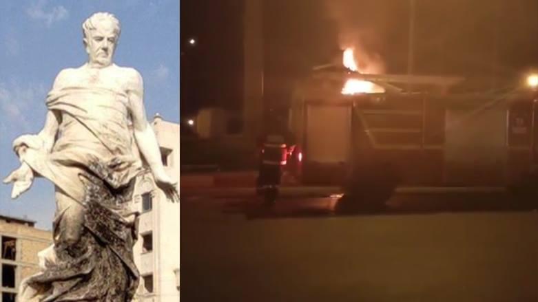 Mahabad'da ünlü Kürt şair ve yazarın heykeli ateşe verildi!