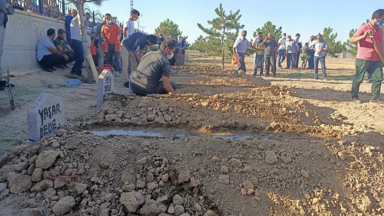 Konya'da saldırıya uğrayan Kürt aile toprağa verildi
