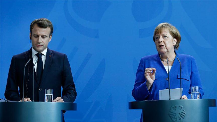 AB Zirvesi öncesi buluşan Macron ve Merkel'den Türkiye açıklaması!