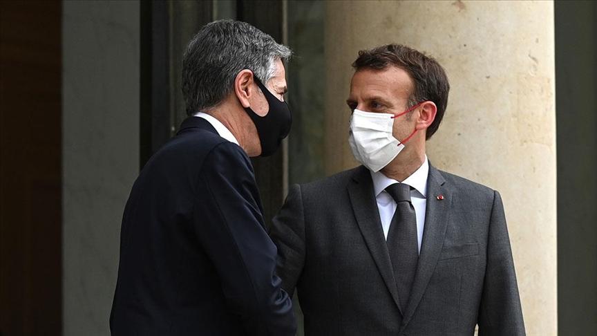 Macron'dan denizaltı krizinin ardından ABD ile ilk temas!