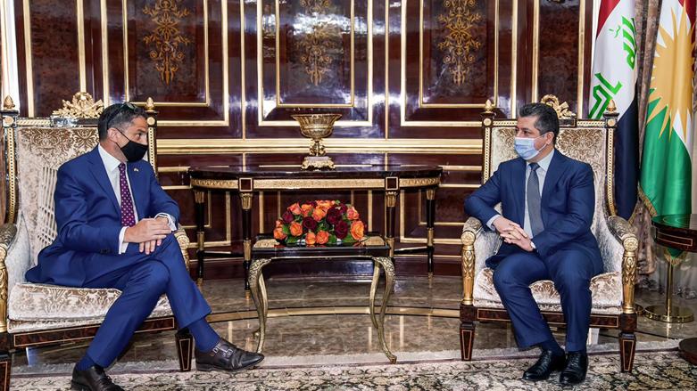 Başbakan ABD'nin Erbil Başkonsolosu Palladino'yu kabul etti!