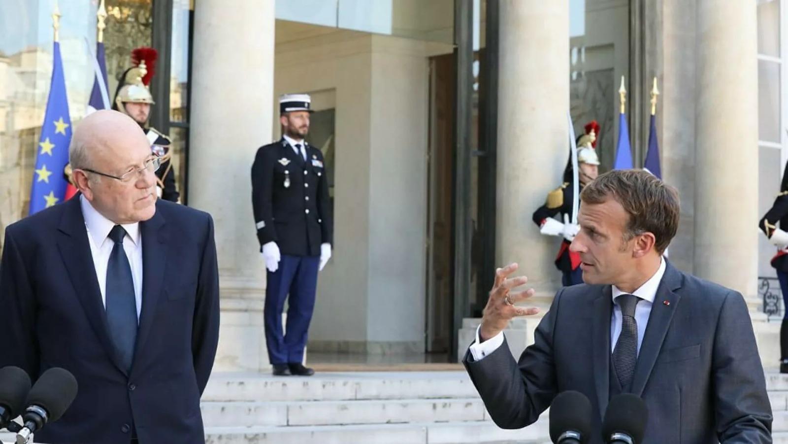 Macron'dan Lübnan'da hükümeti kuran Mikati'ye destek!