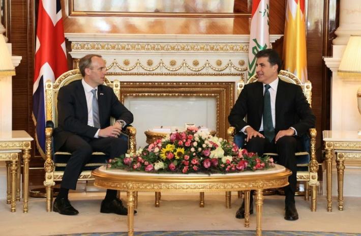 Neçirvan Barzani, İngiltere Dışişleri Bakanı ile bir araya geldi!