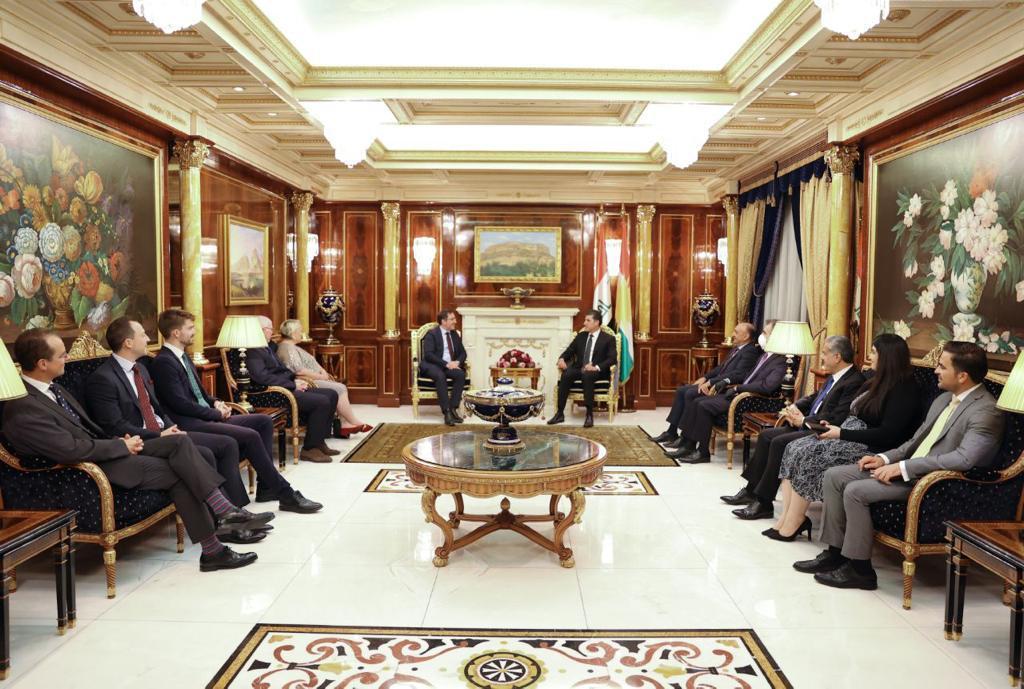 Neçirvan Barzani, İngiliz heyet ile bölgesel konuları görüştü