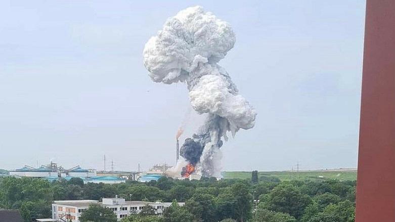 Almanya'nın Leverkusen kentinde patlama!