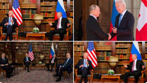 Putin ve Biden, Cenevre'de bir araya geldi