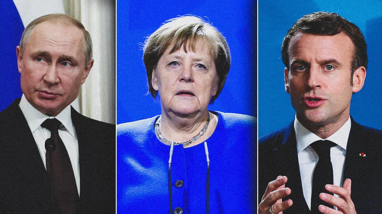 Putin, Macron ve Merkel, Ukrayna'yı görüştü!