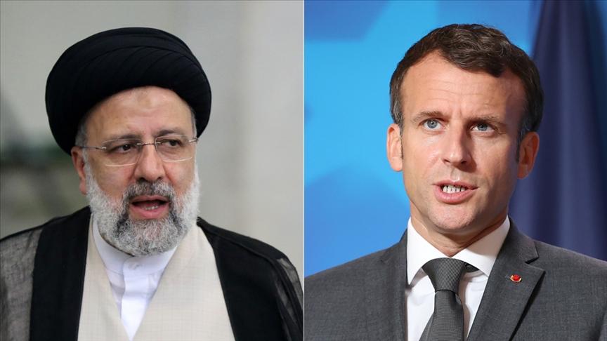 """Reisi ve Macron, """"nükleer anlaşmayı"""" görüştü!"""