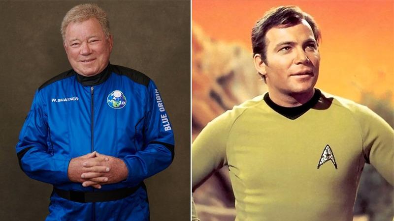 'Star Trek'in Kaptan Kirk'ü uzaya çıkan en yaşlı insan oldu!